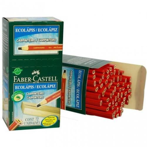 lápis preto para carpinteiro cx 72 un. faber castell