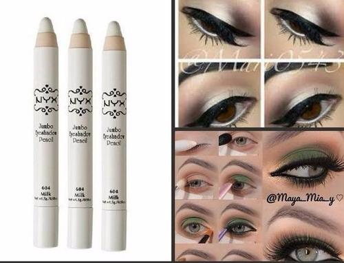 lápis sombra nyx jumbo milk 604 branco eye pencil olhos