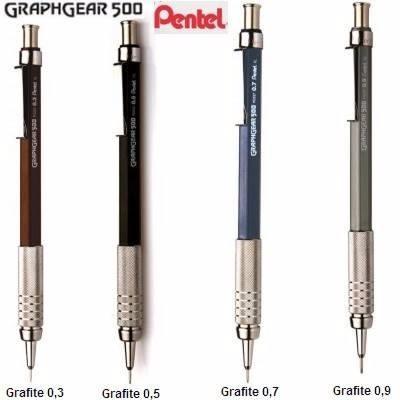 4a5867c5198d8 Lapiseira Pentel Tec.graph500 0,3 + 1tb Grafite Pentel 0,3b - R  45 ...