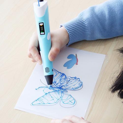 lapiz 3d impresora dibujo + rollo plasti dibuj envio gratis!