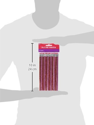 lápiz brillo día san valentín amscan paquete 12 rojo rosa 7