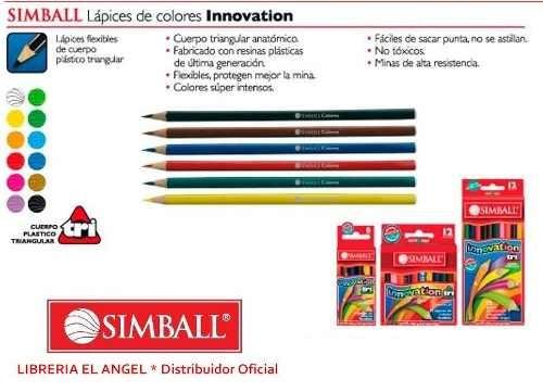 lapiz color innovation x 12 corto simball lapices pinturitas