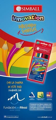 lapiz color innovation x 6 corto simball lapices pinturitas
