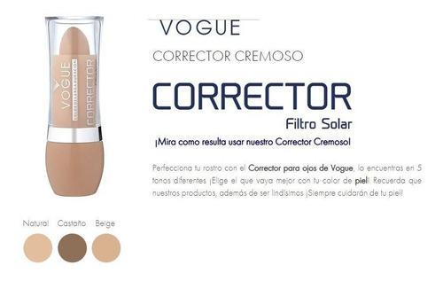 lapiz corrector de ojeras vogue cremoso con filtro solar