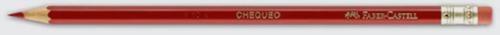 lápiz faber castell con borrador mina roja cja x 12 pzas