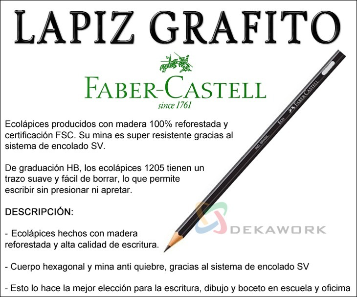 Lápiz Grafito Eco 1205 Hb Nº 2 Faber Castell Local En Lanus 10
