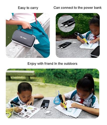 lapiz impresora 3d smaffox sm-01 pantalla lcd estuche 36mts