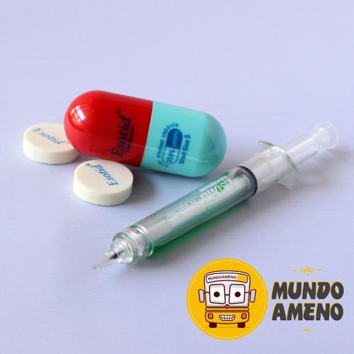 lapiz jeringa y capsulas para médicos,enfermeras,tens