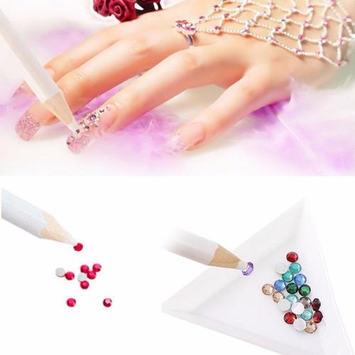 lapiz magico sujetador para uñas piedras strass