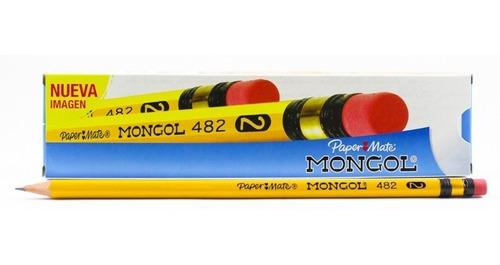 lapiz mongol nº 2  caja de 12 unidades