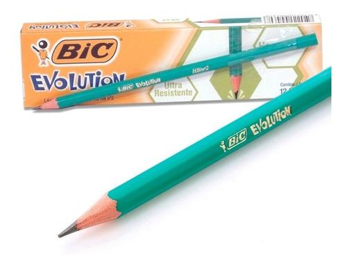 lápiz negro bic evolution hexagonal caja x 12 unidades
