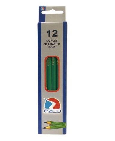 lápiz negro ezco bluedition hexagonal x 12 unidades