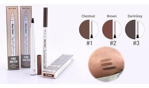 lápiz para cejas tattoo larga duracion efecto natural x 4un