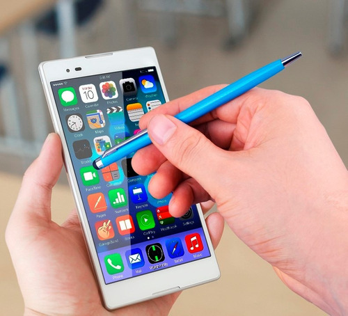 lapiz tactil capacitivo + lapicera iphone 5 5s 6 6s 7 plus