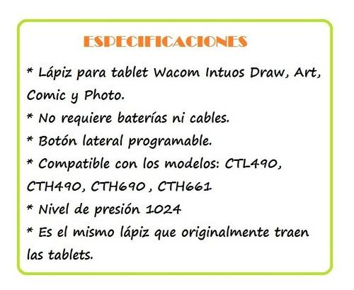 lapiz wacom intuos lp190k para draw art comic photo