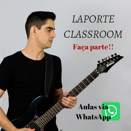 laporte classroom - mensal - aula de guitarra pelo whatsapp