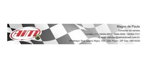 laptimer gps aim solo 2 lançamento - carro, moto, kart