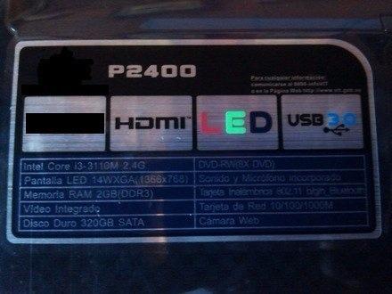 lapto core i3 disco 320 4gb ram