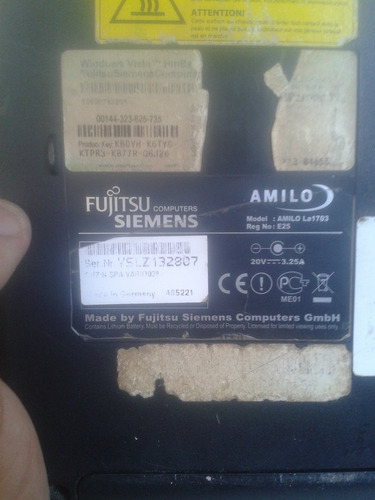 lapto fujitsu siemens para repuestos o reparación usada
