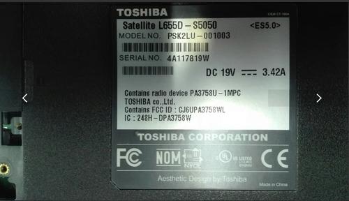 lapto toshiba modelo satellite l655d-s5050 respuesto tienda