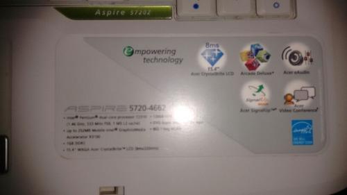 laptop acer 15,4  aspire 5720 - 4662usada en perfecto estado