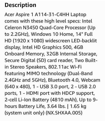 laptop acer aspire 1