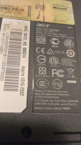 laptop acer aspire 4315 para repuesto