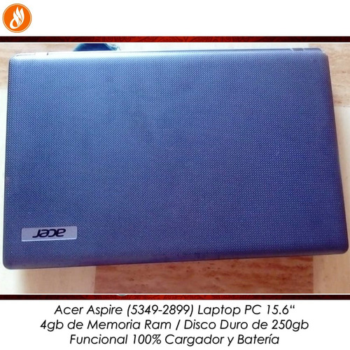 laptop acer aspire 5349 intel 4gb ram disco 250gb