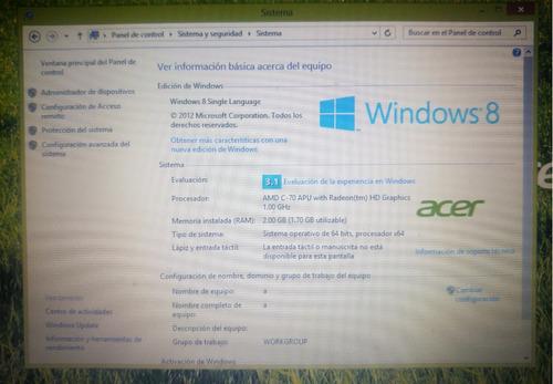 laptop acer aspire v5 (teclado dañado)