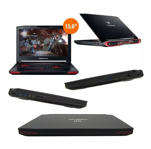 laptop acer predator g9 593 15.6' i7 16gb 1tb 256ssd vid6gb