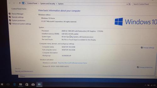 laptop asus 4gb de ram de 15 iny amd e2 500gb hhd