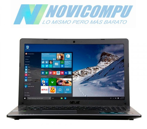 laptop asus  i7-6700hq +8gb +1tb +video nvidia 2gb+dvdrw w10