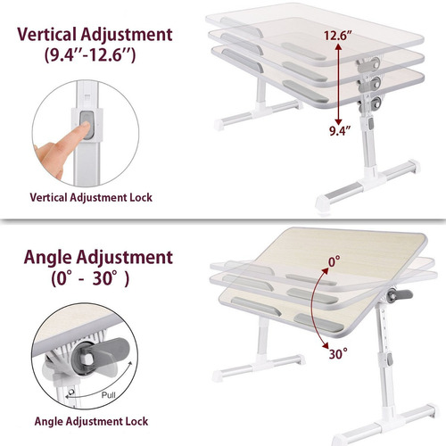 laptop bed tray minitable quality adjustable portable standi