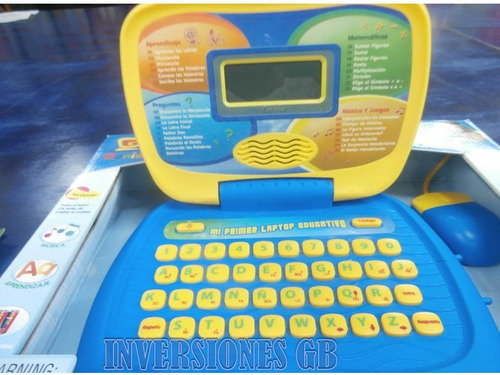 laptop computadora jugute para niño pc genio oferta