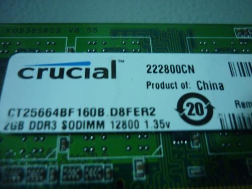 laptop ddr3 2gb. memoria para
