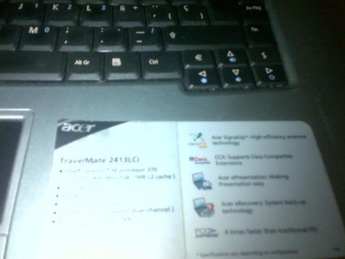 laptop de acer travelmate 2413lci para reparar