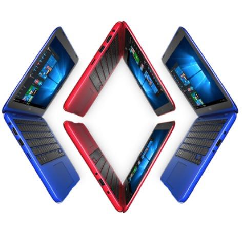 laptop de colores dell 11,6 azul roja blanca 2gb 32gb mini