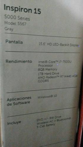 laptop dell core i7 7gen/1 tb/8 gb 15,6  video 4gb español