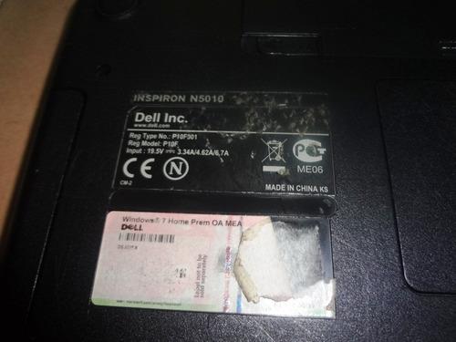 laptop dell inspiron n5010 para repuesto