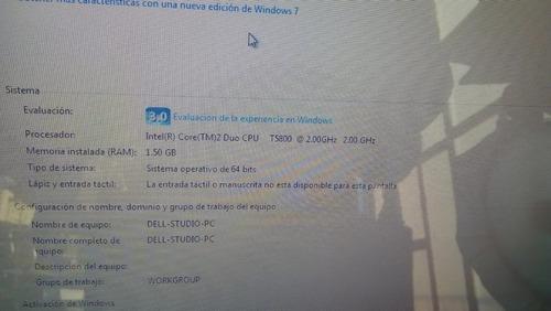 laptop dell studio 1535 intel core duo t5800