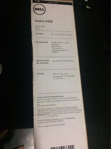 laptop dell vostro 3458,intel core i3, 1 tb, 8 gb  nuevo