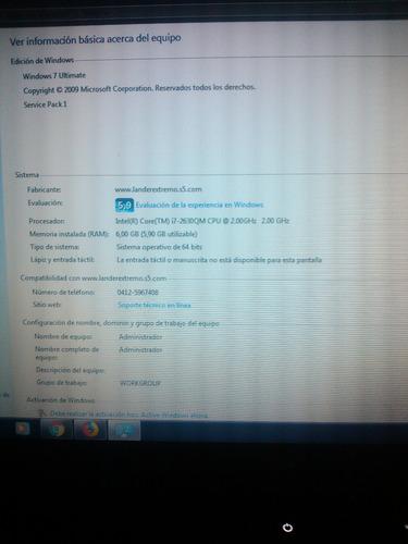 laptop dell xps l502x i7