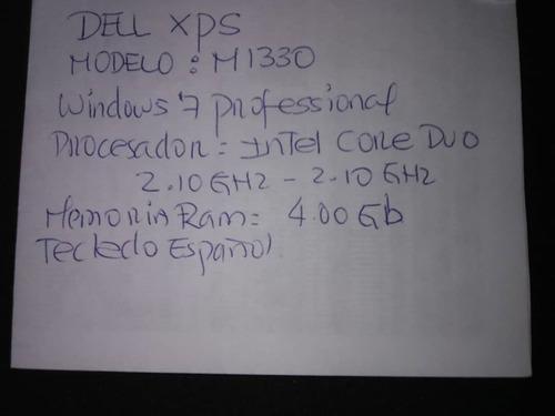 laptop dell xps modelo m1330 computadora portatil