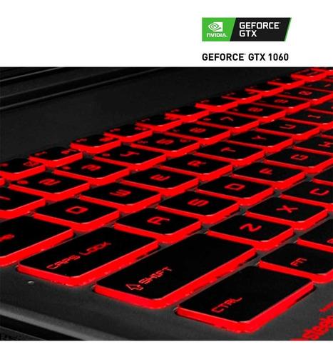 laptop gamer nvidia geforce gtx 1060 3gb msi gv62 intel core i7 8750h 8gb 1tb 15.6 full hd