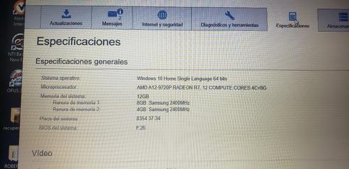 laptop hp 15-cd005la amd a12 12gb ram 1 tb led 15 win 10 dvd