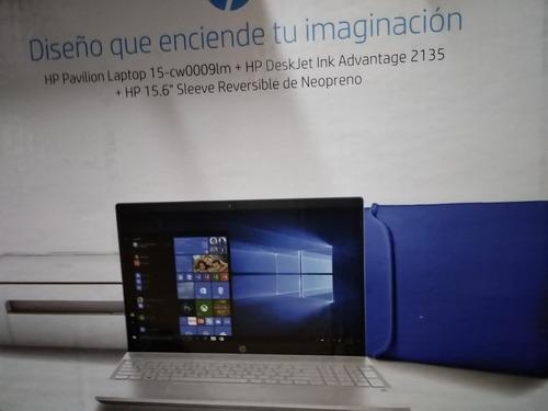 laptop hp 15-cw0009lm  + impresora deskjet ink 2135