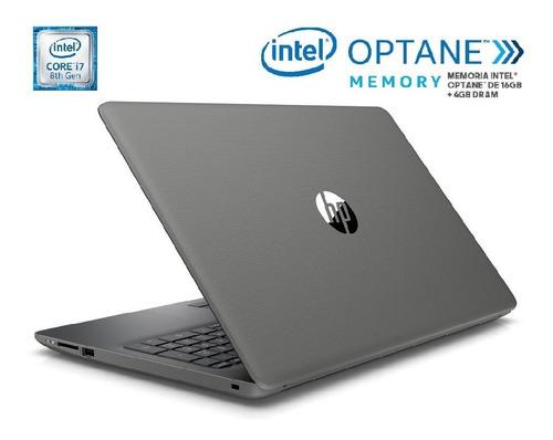 laptop hp 15-da0016la core i7 8th 4g 1tb hd+ 16 gb optane