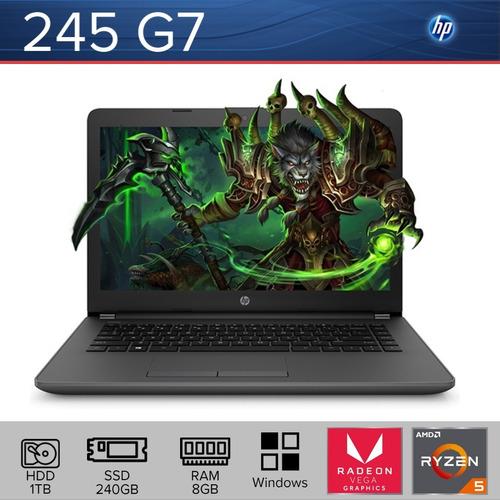 laptop hp 245 g7 ryzen 5 hdd 1tb + ssd 240gb + ram 8gb win10