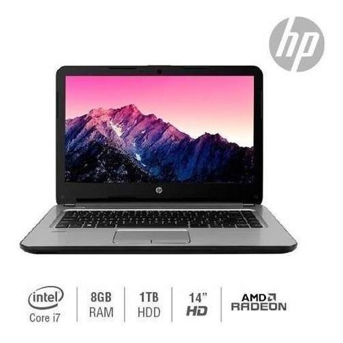 laptop hp 348 g4/intel core i7-7500u 2.70ghz/8gb/1tb/14 /2gb