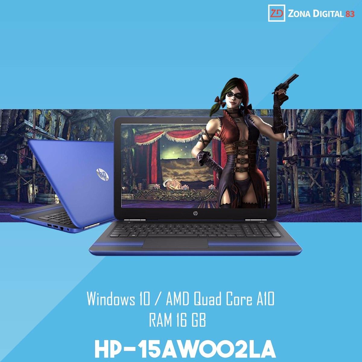 Laptop Hp Amd Quadcore A10 9600p 16gb Ram 33 Ghz